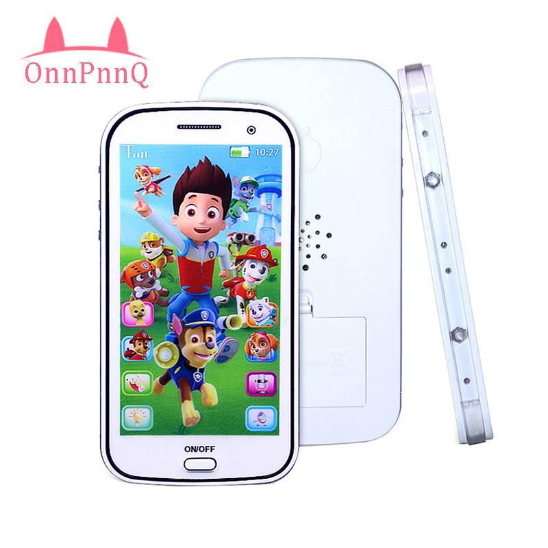 OnnPnnQ Baby Musical Learning Figures Interactieve Elektronische Kinderen Speelgoed voor Kinderen Educatief Flash Mobiele Telefoon Speelgoed Geschenken MyXL