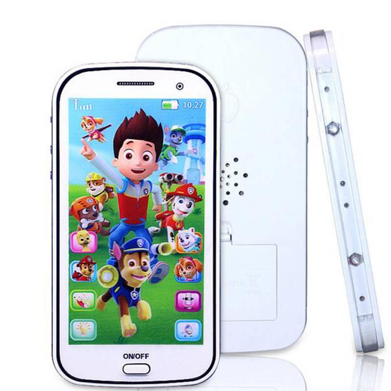 Engels-Russische kinderen speelgoed telefoon met licht touch-screen muziek mobiele telefoon speelgoe
