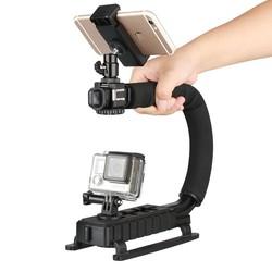 MyXL Ulanzi 4 in 1 Handheld Video Stabilizer Gimbal Handvat Steadicam Rig voor Gopro Hero 5 4 Actie Camera Sjcam XIAOMi Yi voor iphone