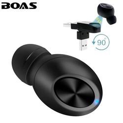 MyXL BOAS Kleine Draadloze Bluetooth Oortelefoon USB Magneet Onzichtbare verborgen hoofdtelefoon in oor oortje Handsfree met Mic voor smartphone