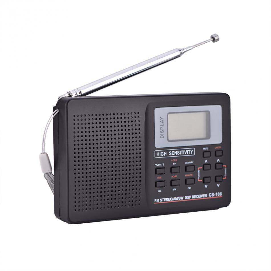 FM-AM-SW-LW TV Radio Mini Sound Volledige Frequentie Ontvanger Radio Portable Digitale Radio Met klo