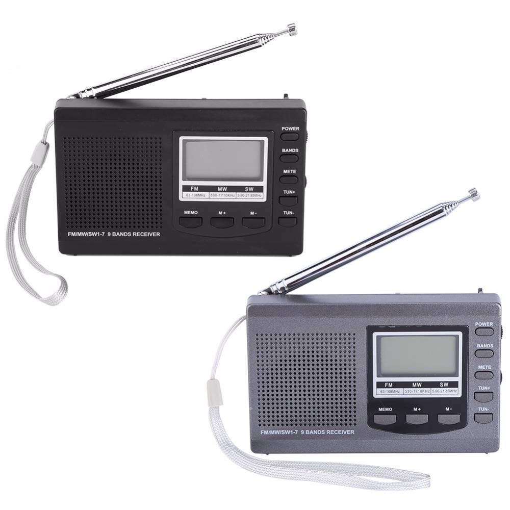 Draagbare Mini Radio FM-MW-SW met antenne Digitale Wekker FM Radio Ontvanger digitale draagbare fm o