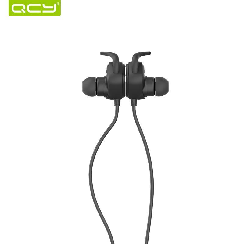 QCY QY12 Bluetooth Oortelefoon Sport Draadloze Koptelefoon Magneet Schakelaar Oordopjes Met Microfoo