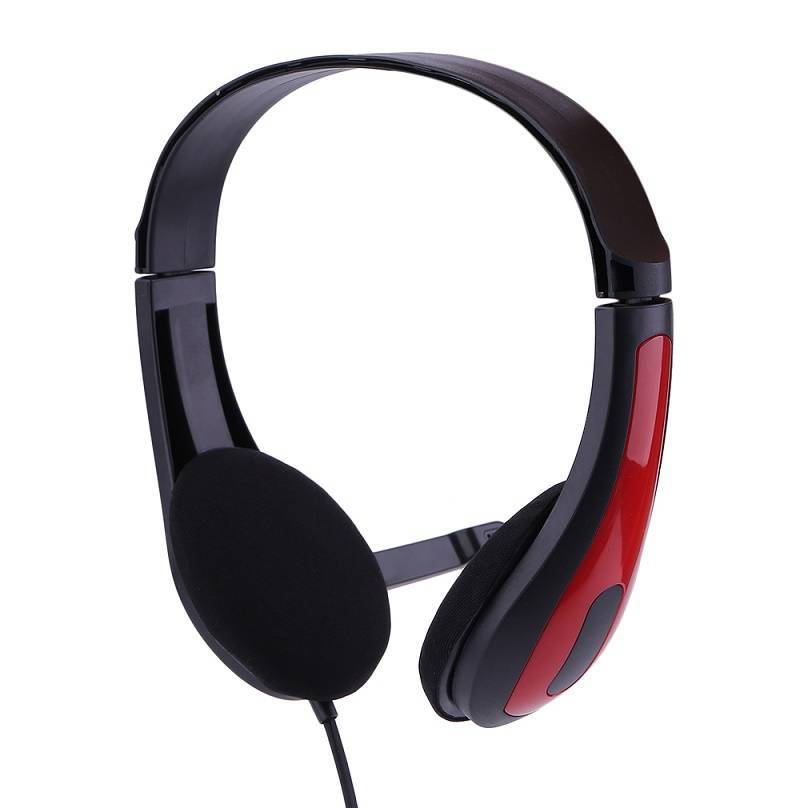 JM-472 Universal Computer Laptop PC Headphone Ergonomic3.5MM Wired Playing Game Headset Red-Blue
