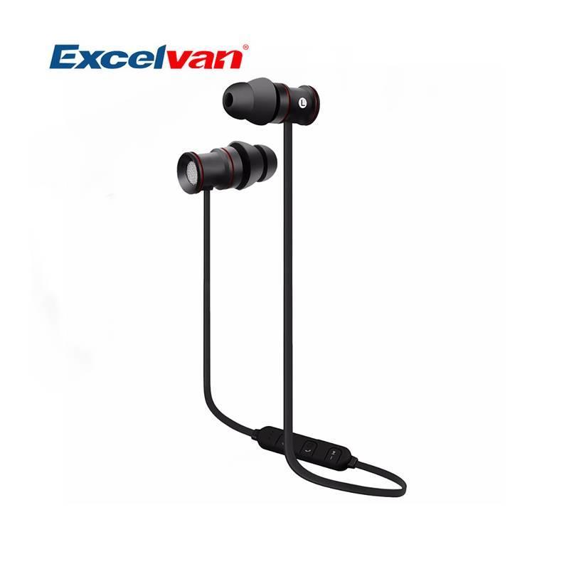 MyXL Originele EXCELVAN BTH-828 Draadloze Bluetooth Headset Zweet-proof Stereogeluid Sport Oortelefoon met Microfoon Ruisonderdrukking