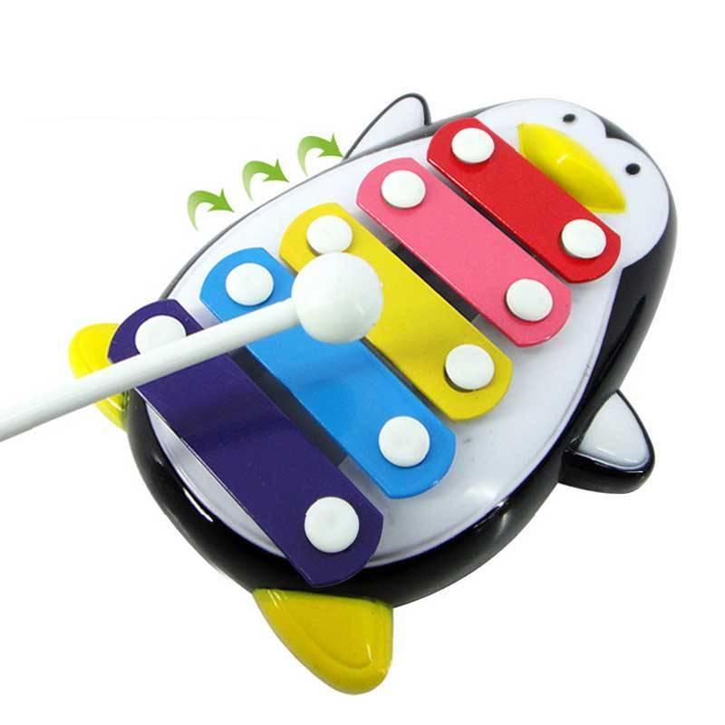 MyXL Mooie pinguïn vorm 5-note speelgoed muziekinstrumenten houten speelgoed training en onderwijs miniatuur muziekinstrumenten
