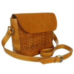 Leder Handtasche, geflochten
