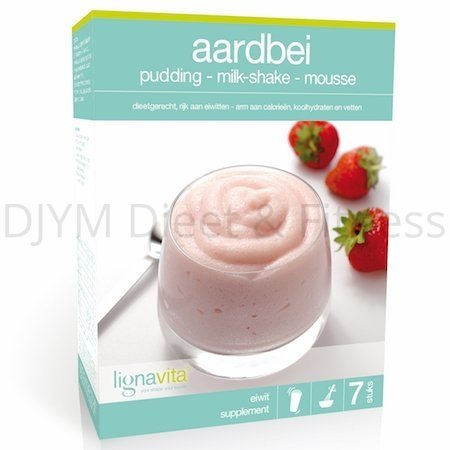 Lignavita Aardbeien Pudding, Milkshake of Mousse