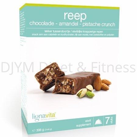 Lignavita Lignavita Reep met Amandel Pistache Chocolade Crunch