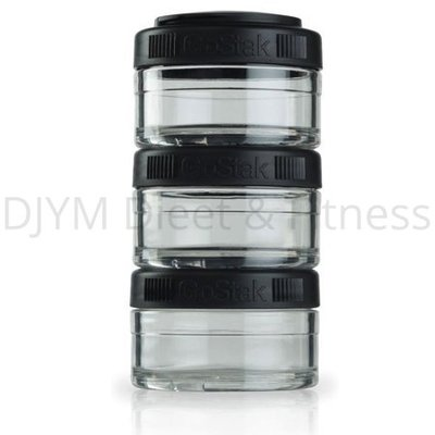 Blender Bottle GoStak Zwart 3x60 ml