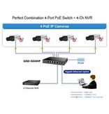PoE switch 1G 4ch. + 2 uplink