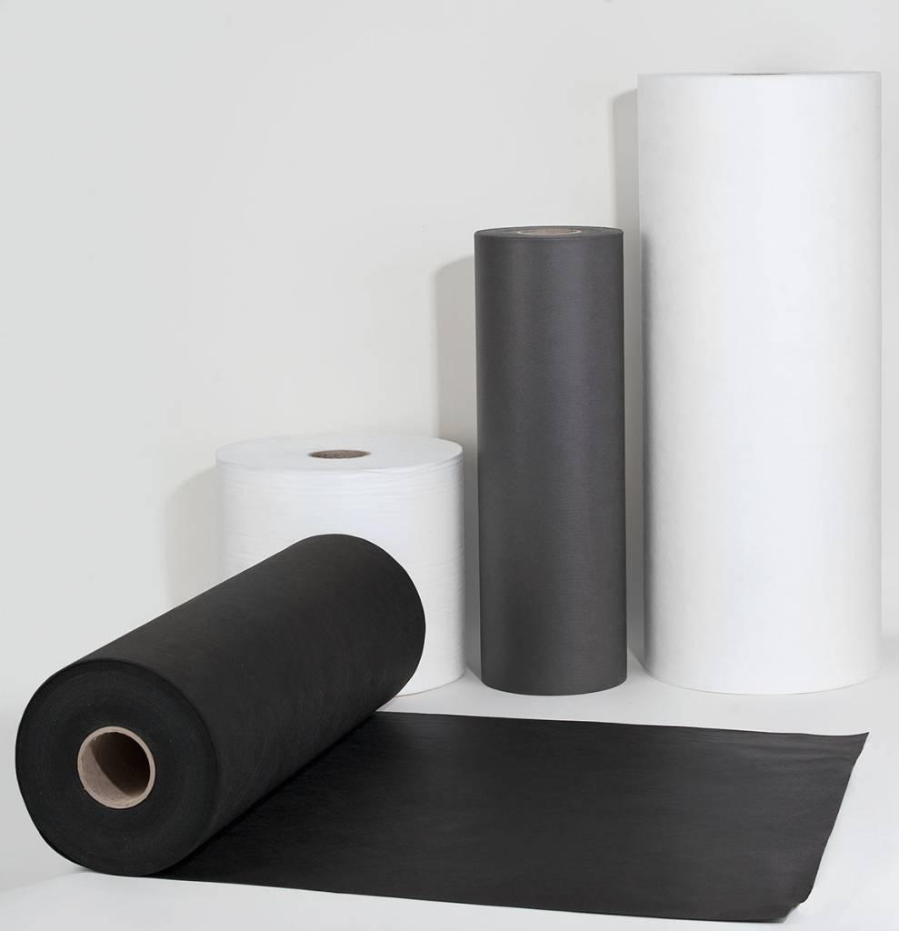 PP-Spinnvliesstoff 100 g/m², Schwarz, Breite 100 cm, 250 m, schwer entflammbar nach B1