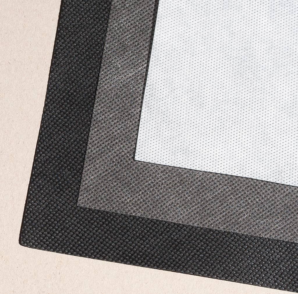 PP-Spinnvliesstoff 70 g/m², Schwarz, Breite 160 cm, 125 m