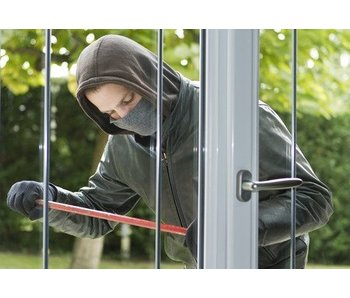 Restoration of door and lock after burglary