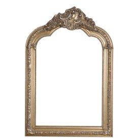 Parijs - Spiegel met zilveren barok kader met kuif