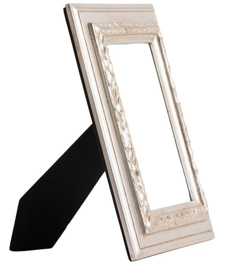 Lazzaro - Zilveren fotokader van hout