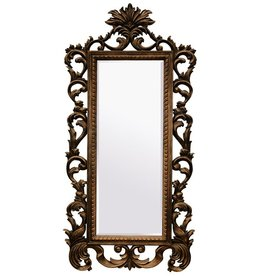 Bonalino goedkope spiegel met barok gouden kader for Goedkope barok spiegel
