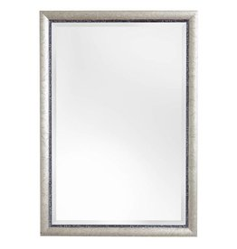 Paola - facet spiegel met zilveren kader