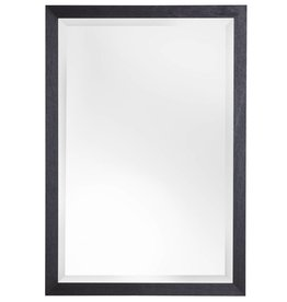 Boriana - betaalbare spiegel met zwarte kader