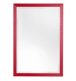Le Vigan - sfeervolle betaalbare spiegel met rode kader