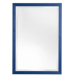Xabia - sfeervolle betaalbare spiegel met blauwe kader