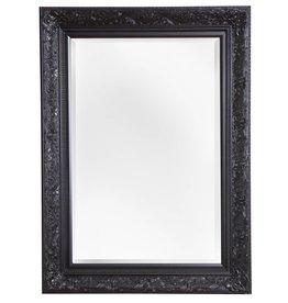 Turin - sfeervolle spiegel met zwarte barok kader
