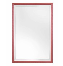 Lille - spiegel met smalle rode kader