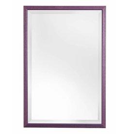 Lille - spiegel met smalle paarse kader
