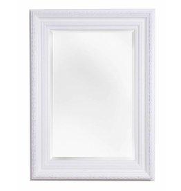 Valence - spiegel met witte barok kader