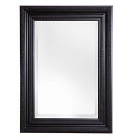 Valence - spiegel met zwarte barok kader