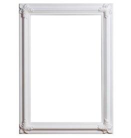 Valencia - witte klassieke kader van hout
