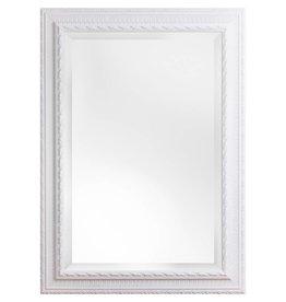 Nyons - spiegel met witte barok kader met ornament