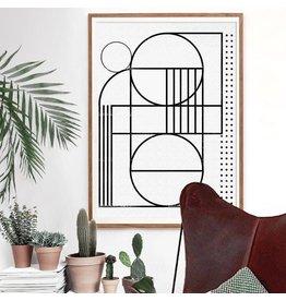 Vontrueba Lux 6 - poster met houten kader