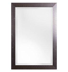 Torino - spiegel met moderne kader met RVS look