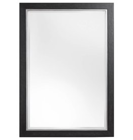 Modena - spiegel met luxe zwart zilveren kader