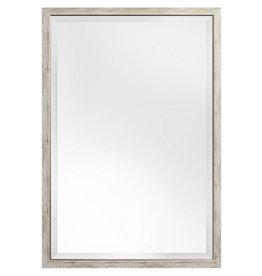 Rimini - spiegel met smalle grijs-zilveren kader