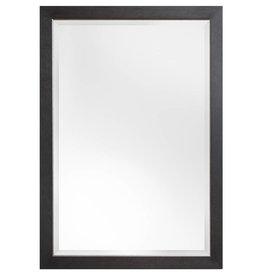 Rimini Grande - spiegel met donker bruine kader met zilver