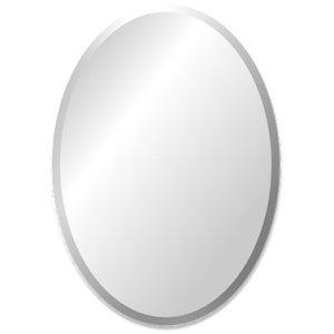 Ovale spiegel zonder kader