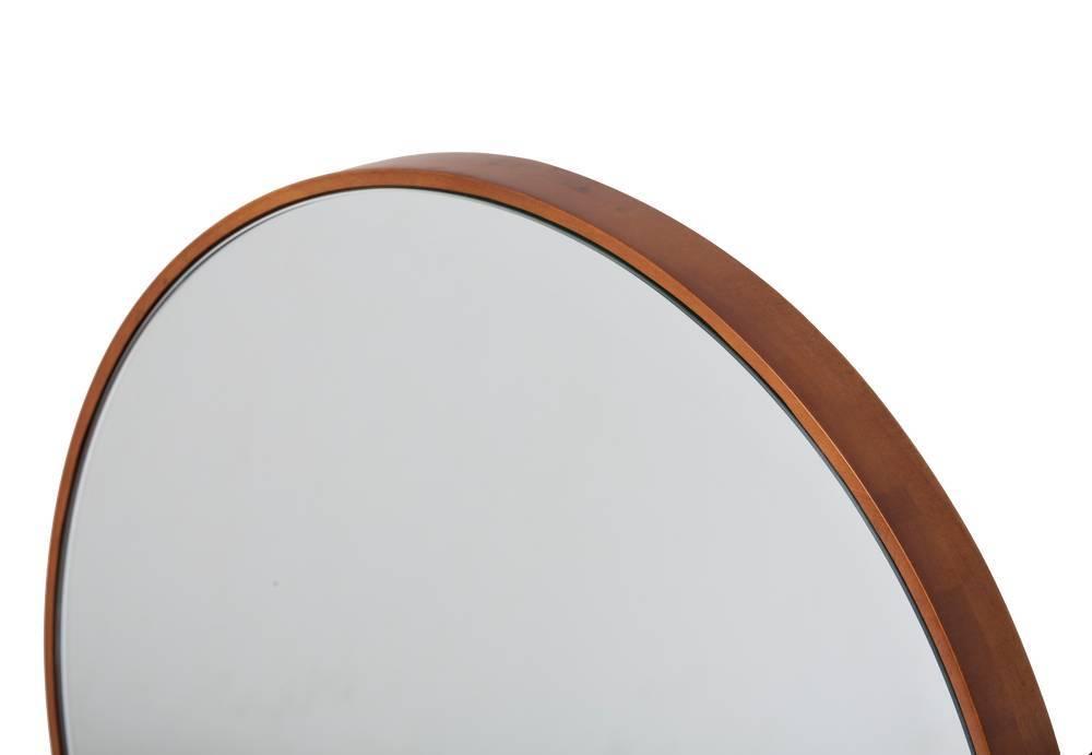 Ronde Houten Spiegel : Calabria ronde spiegel met smalle houten kader kunstspiegel be