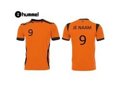 Hummel Oranje Shirt (+ naam en nummer)