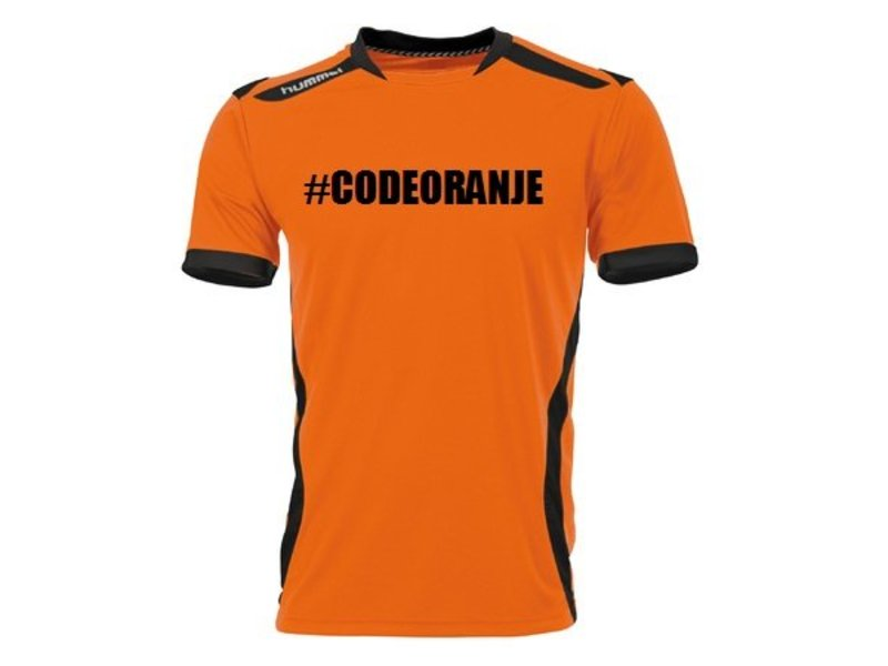 Hummel Code Oranje shirt