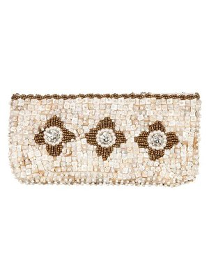 Babae Clutch Ivory Gold