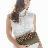 Faye Clutch Brown