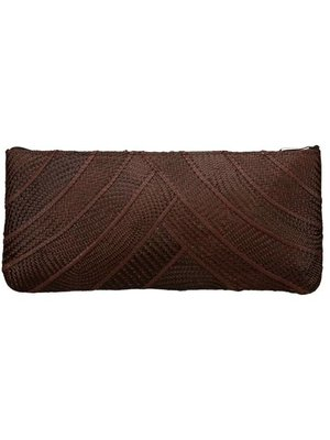 Riza Clutch Banded Brown