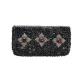 Babae Clutch Black Red Drops