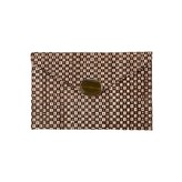 Envelop Clutch Brown Cream
