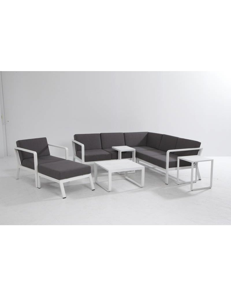 Casa Outdoor Domino Loungeset 4-delig White