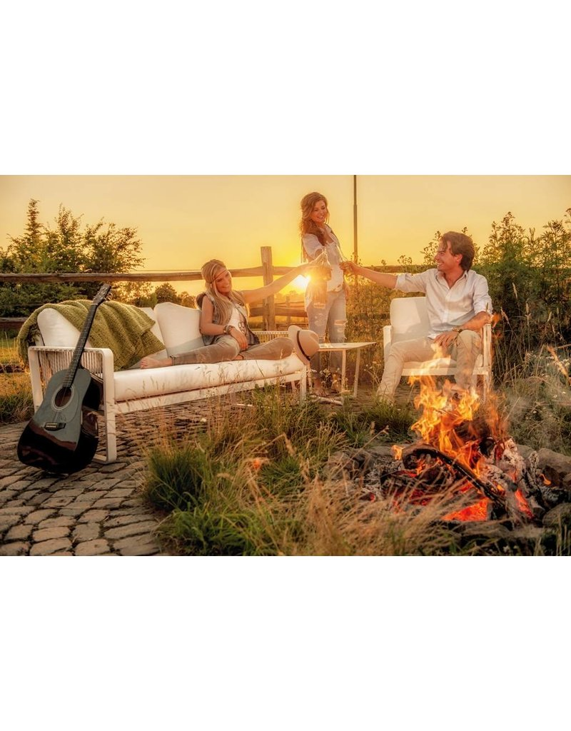 4 Seasons Outdoor 4 Seasons Outdoor loungeset Largo Retro in Provance wicker