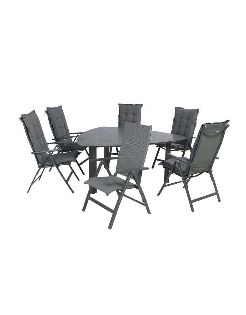 Garden Deals Lecce/Tumba Triangle Diningset 175 cm.