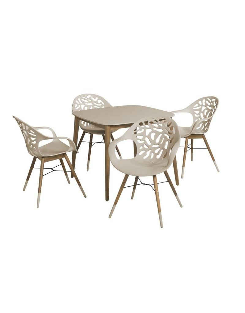 B7 Club collection Coral Reef Diningset 90X90 cm.